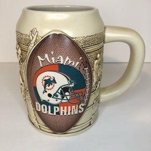 Vintage Miami Dolphins Football Beer Stein Mug